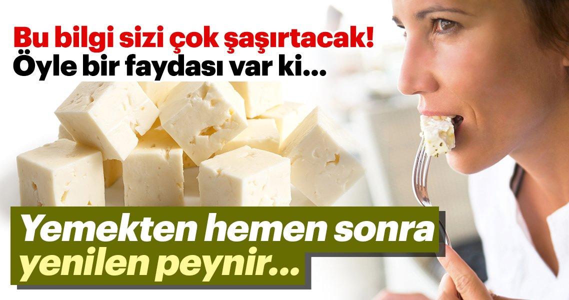 Bu bilgiye çok afallayacaksınız! Yemekten hemen sonra yenilen peynir…