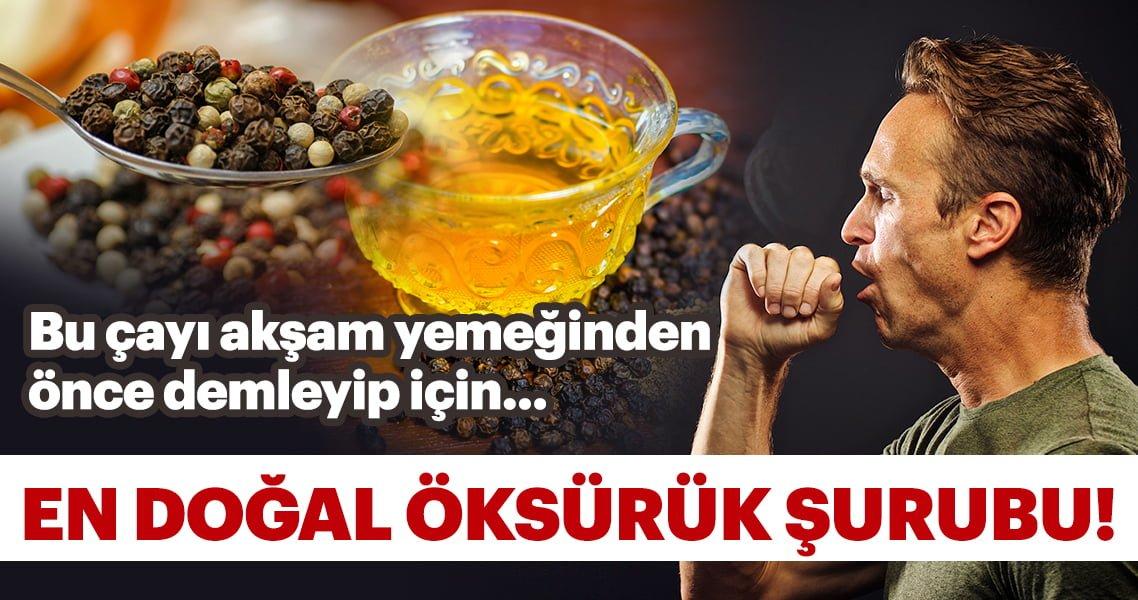 Bu çayı akşam yemeğinden evvel demleyip için… İşte konutta natürel öksürük şurubu!