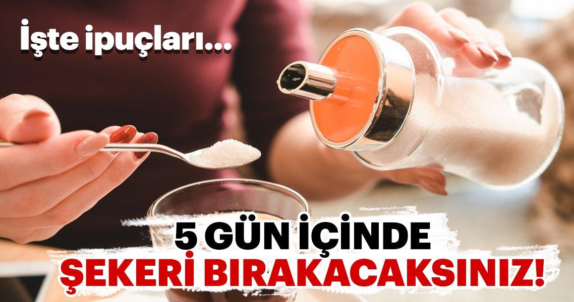 5 gün içinde şekeri vazgeçmek için ipuçları