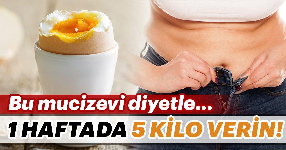 Haftada 5 kilo verdiren yumurta perhizi