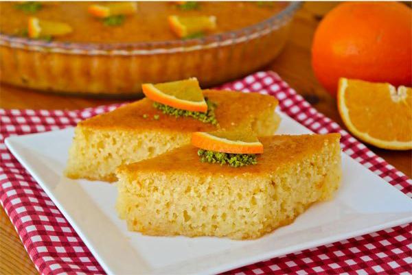 Portakallı Revani Tasviri