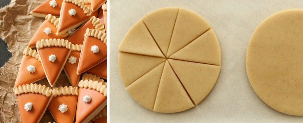 Mini Balkabağı Pasta Dilimi Kurabiye Tarifi