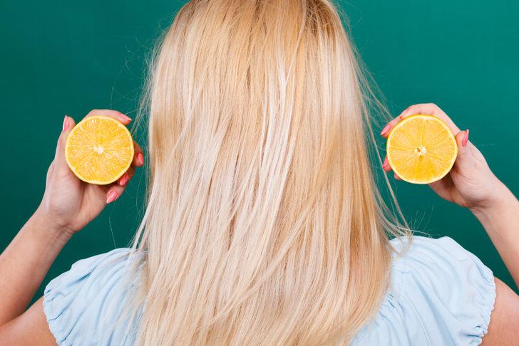 Saç renginizi açmak için kuaföre gitmenize gerek yok! Limon yeter…