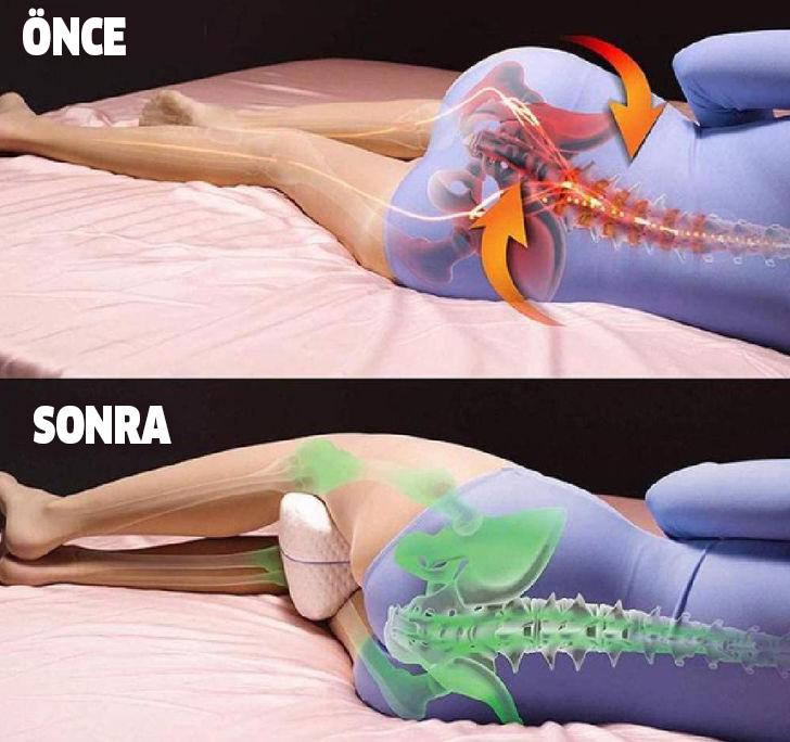 Uyurken Bacaklarınızın Arasına Yastık Koymanın İnanılmaz Yararları Varmış